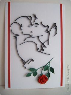Картина, панно Бумагопластика, Квиллинг, Литературное творчество: Любовь-она всегда права Бумага. Фото 1