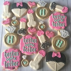 Besties before testies. This is one of my most frequently ordered sets of cookies. #crumbsbycaitlin #decoratedcookies…