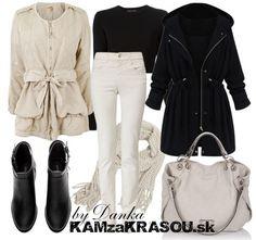 Béžovo-čierna kombinácia - KAMzaKRÁSOU.sk #kamzakrasou #sexi #love #jeans #clothes #coat #shoes #fashion #style #outfit #heels #bags #treasure #blouses #dress