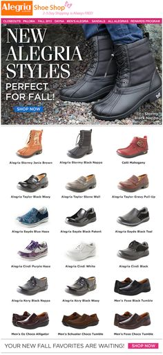 New Alegria styles--perfect for Fall! | Alegria Shoe Shop