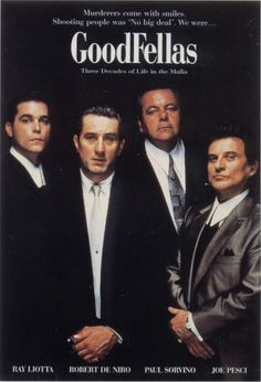 Goodfellas movie poster for the media room