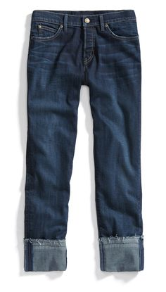 Non-distressed cuffed jeans. Stitch Fix Winter Essentials: A pre-cuffed jean is the perfect style to pair with ankle booties. For the winter, opt for a high thick sock to prevent chilly exposed ankles. Stitch Fix Fall, Stitch Fit, Looks Style, Style Me, Cuffed Jeans, Dark Jeans, Ankle Jeans, Fix Clothing, Casual Outfits