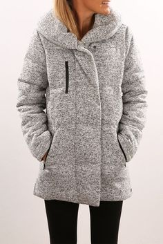 JEAN JAIL - HURLEY || 'Augustine Puffer' jacket heather cool grey | Chaqueta gris 'Augustine Puffer'