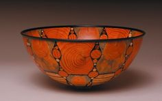 Untitled Bowl, 2005, by Gianfranco Angelino;  Various Pines, Epoxy Resin