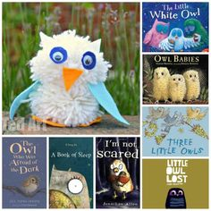 """My 5yrs old """"designed"""" and made this cute pom pom owl - inspired by reading one of her FAVOURITE Owl Books ever. Come and check it out + 9 other fabulous owl book recommendations. What a hoot!"""