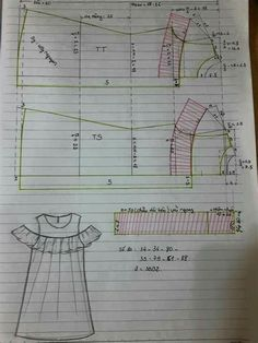 Sewing Lessons, Sewing Hacks, Sewing Tutorials, Kids Dress Patterns, Clothing Patterns, Pattern Cutting, Pattern Drafting, Fashion Sewing, Sewing Techniques