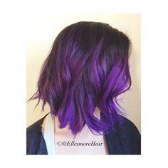 purple ombre on bob hair - Google Search