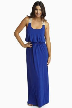 Sapphire Blue Maxi Dress Available at Lush & Co. Boutique