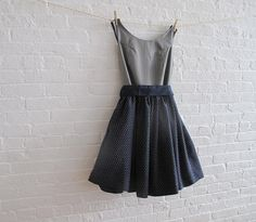 silver blue tea dress reserved for Annemarie by sohomode on Etsy