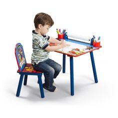 Mesa escritorio infantil y silla Patrulla Canina. TT89535PW, IndalChess.com Tienda de juguetes online y juegos de jardin
