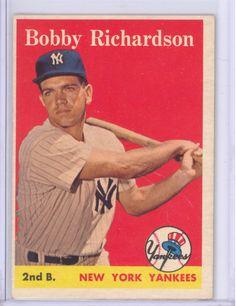 1958 TOPPS #101 BOBBY RICHARDSON NEW YORK YANKEES EXMT