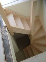 Image result for attic staircase radial winders