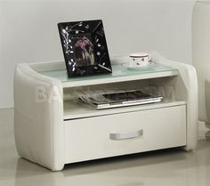 Sole Nightstand in White by CasaBianca