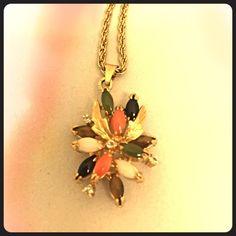 Vintage necklace Vintage pendant necklace Jewelry Necklaces