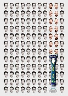 Creative Ads Urge Men To Break Free From Their Grooming Routines - DesignTAXI.com