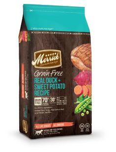 Merrick Grain Free 25-Pound Real Duck and Sweet Potato Dog Food, 1 Bag - http://www.thepuppy.org/merrick-grain-free-25-pound-real-duck-and-sweet-potato-dog-food-1-bag/