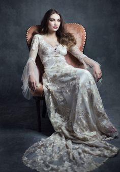 vestido de noiva claire pettibone gothic angel michaela estilo medieval #casarcomgosto