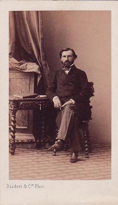 Giuseppe Verdi (1813-1901), photograph (1859), by André-Adolphe-Eugène Disdéri (1819-1889).