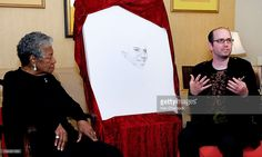 Dr. Maya Angelou (left) and artist, David Ilan (right) speak at the Special Recognition Event in support of The Michael Jackson Tribute Portrait at the home of Dr. Maya Angelou on June 21, 2010 in Winston-Salem, North Carolina.