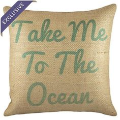 Take Me to the Ocean Pillow at Joss & Main