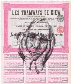 'lung infection' Bic biro drawing on a 1905 document by mark powell bic biro drawings, via Flickr