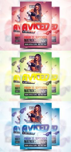 Aviced Party - Flyer Template. Flyer Templates. $5.00