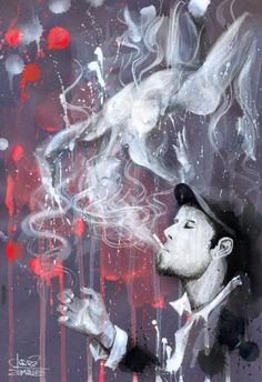 Illustrations by Lora Zombie - Tom Waits...