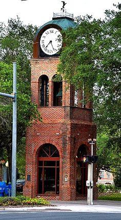 The Clock Tower at City Hall, Gainesville, Florida Miss Florida, Gainesville Florida, Florida City, Outdoor Clock, Unique Clocks, Clock Art, Sunshine State, Condo, Brick