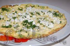 Omleta cu dovlecei Quiche, Chicken, Meat, Breakfast, Healthy, Food, Morning Coffee, Eten, Quiches