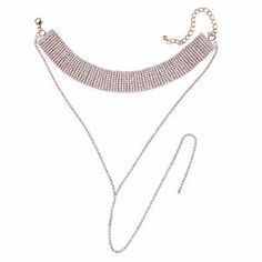 CRYSTAL CHOKER❤ In stock #fashion #luxury #chain #jewelry #bodychains #chokers #crystal #necklace