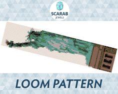Statue of Liberty Pattern Loom Bead Bracelet / by ScarabJewels