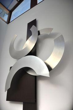 animales minimalistas objeto - Buscar con Google Metal Wall Art Decor, Metal Wall Sculpture, Glass Wall Art, Abstract Sculpture, Wall Sculptures, Metal Art, Sculpture Art, Sculpture Projects, Metal Walls