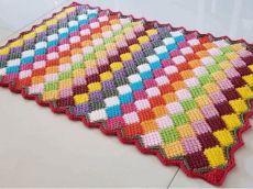 Crochet Carpet Using The Entrelac Stitch Crochet Butterfly Pattern, Crochet Feather, Crochet Cord, Crochet Needles, Crochet Patterns, Crochet Motif, Double Crochet, Easy Crochet Slippers, Crochet Baby Hats