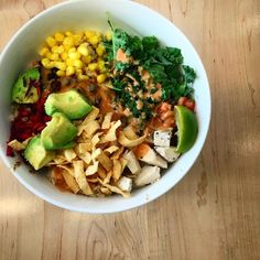 Dinner @freshii - the #oaxaca bowl is amazing! With #chicken