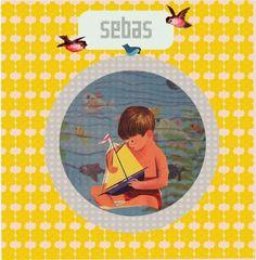 Birth anouncement card designed by de kleine studio