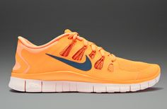 Nike Free 5.0+ - Mens Running Shoes - Atomic Orange-Night Factor-Urban Orange