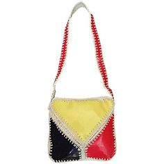 Preowned 1960s Made In Italy Mod Mondrian Print Red + Blue + Yellow... (24.510 RUB) ❤ liked on Polyvore featuring bags, handbags, shoulder bags, hobo bags, yellow, handbags crossbody, shoulder handbags, hobo shoulder handbags, purse crossbody and hobo handbags