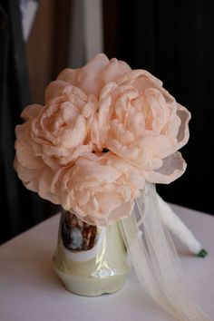 Fabric flowers bouquet Delicate Handmade fabric by RoseinItaly, $110.00
