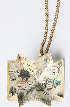 The Pooh Collection Story Book Necklace