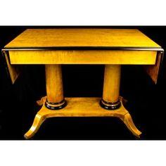 1800s Biedermeier Ormulu Dropleaf Table