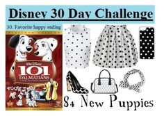 """""""Day 30: 84 New Puppies"""" by samirogers1104 ❤ liked on Polyvore featuring Disney, Glamorous, Nicholas Kirkwood, Merona and CellPowerCases"""