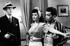 """Carlos López Moctezuma, Mapy Cortés y Cantinflas en """"El gendarme desconocido"""".-1941"""