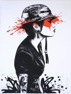 """Agent O"" - street art"