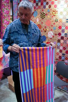 Love Kaffe Fassett's fabric, yarn, and quilts