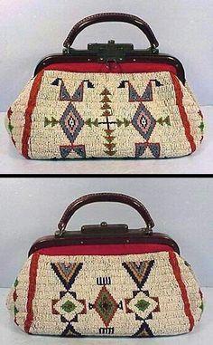 Lakota purse, doctor bag style