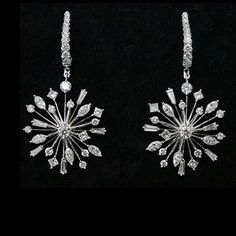 "Jacqueline C Krainz (@jacquelinek.finejewelsofnyc) on Instagram: ""The stunning Medi Starburst diamonds earrings from the Elegans collection. #finejewelsofnyc…"""