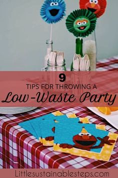 Plastic waste and birthday parties often go hand in hand, but they don't have to. Here's how you can easily throw a low waste kids birthday party! Sesame Street Party, Plastic Waste, Eco Friendly House, Sustainable Living, Minimalist Lifestyle, Minimalist Parenting, Zero Waste, Birthday Parties, Simple