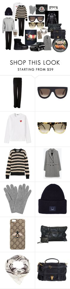 """winter coming ip ------>"" by mollyjunelindstrom ❤ liked on Polyvore featuring Moncler, Norma Kamali, CÉLINE, Play Comme des Garçons, McQ by Alexander McQueen, L.K.Bennett, Acne Studios, Gucci, Balenciaga and Lala Berlin"
