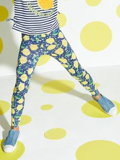 Lemon leggings Lemon Print, Girls In Leggings, Printed Leggings, Ss, Lady, Fabric, Cotton, Fashion, Tejido