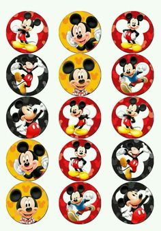 Adesivo mickey Fiesta Mickey Mouse, Mickey Mouse Bday, Mickey Mouse Clubhouse Birthday, Mickey Mouse Parties, Mickey Party, Mickey Mouse And Friends, Mickey Mouse Birthday, Mickey Minnie Mouse, Mickey Mouse Cupcakes